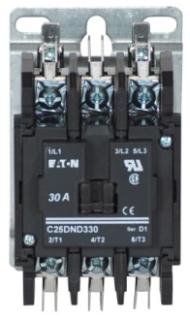 C25DND330A CH OPEN N-R 3P 30A DP CONT SCR/PP W/QC TERM 120VAC COIL