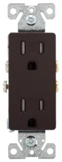 TR1107B-BOX CWD RECP TR DECO DUPLEX 15A 125V 2P3W BR 03266466511