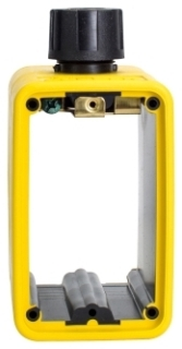 WD3059 CWD STD OUTLET BOX W/COMP FITTING, YELLOW