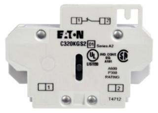 C320KGS2 CH AUX CONT FOR FRDM SIZE 00-2 A-K SIDE MTD 1NC