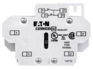 C320KGS6 CH AUX CONT FOR FRDM SIZE 00-2, A-K SIDE MTD 1NO-1NCI