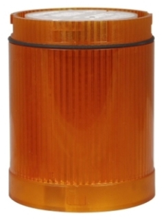 E26B9V4 CH STACKLIGHT LENS AND DIFFUSER UNIT W/110/125V BULB AMBER