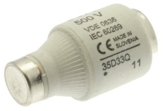35D33 BUS 500V TYPE D FUSE LINKS TIME DELAY 35A gG-gL DIII