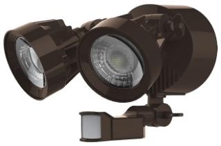 65/094 SATCO LED DUAL HEAD SECURITY LT BR M/S