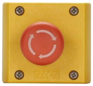 M22-C1-M13H CH CONTROL STATION TWIST-RELEASE E-STOP 1NO