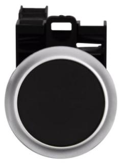 M22-D-S-K11-P CH BLACK FL MOM PB, 1NO/1NC, LGND PLS POP