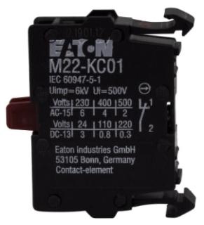 M22-KC01 CH CONTACT BLOCK 1NC SCREW TERM BASE MOUNT