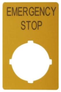 M22-XZK-GB99 CH E-STOP LEGEND PLATE