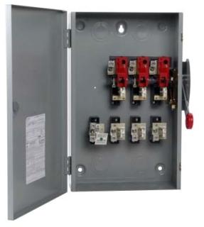 DG324NGK CH SAFETY SWITCH FUSIBLE 3P 200 AMP 240V NEMA 1