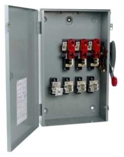 DG324URK CH SAFETY SWITCH NON-FUSIBLE 3P 200 AMP 240V NEMA 3R
