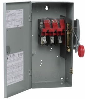 DH362UGK CH SAFETY SWITCH NON-FUSIBLE 3P 60 AMP 600V NEMA 1