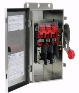 DH362FWK CH SAFETY SWITCH FUSIBLE 3P 60 AMP 600V NEMA 4X
