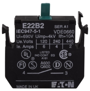 E22B20 CH 2NO CONTACT BLOCK