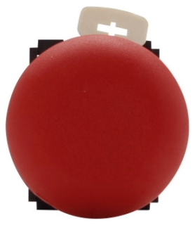 E22LPB2 CH 40MM PUSH-PULL, RED, BLACK BEZEL