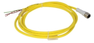 CSAS3F3RY2202 CH MICRO CORDSET, ST, AC 3PIN, 3WIRE, 22AWG, PUR YEL, 2M