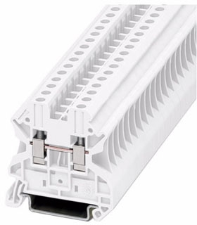 XBUT4WH CH 6.2MM WIDE WHITE FEED THRU TB 26-8AWG