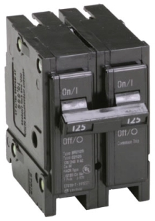 BR2125CS C-H TYPE BR 1-INCH PLUG-ON CIRCUIT BREAKER CLAMSHELL PACK 78211663054
