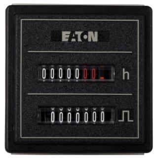 CEC-55PM-406 DURANT COMBINATION HR METER/COUNTER, 55mm SQ DOOR MOUNT, 100-130VAC