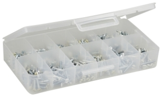 APS2 DOTTIE 6-32 WALL PLATE SCREW KIT ASSORTED SIZES 6 COMPARTME
