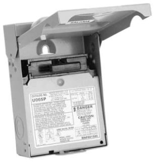 U065P MEP 60A ENCL N/FUSE PLLOUT