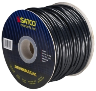 93/182 SATCO 18/3 SVT BLK PULLEY CORD 04592393182