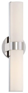 62-722 SATCO BOND DBL LED VANITY POLISHEDNICKEL