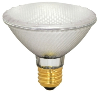S4209 SATCO 39 WATT HALOGEN PAR30 FROSTED 2000 AVERAGE RATED HOURS 500 LUMENS MEDIUM BASE 130 VOLTS