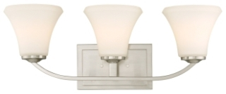 60/6203 SATCO FAWN 3 LIGHT VANITY BN