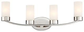 60/6224 SATCO DENVER 4 LIGHT VANITY PN