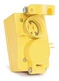 65W07DPLX WOODHEAD FD WTERTITE LOCKING BLADE RECEPTACLE 3 POLE 3 WIRE DUPLEX FLIP LID 1301460146