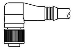 803001A09M050 BH MICRO CHG 3P 4A 250V 90D FEMALE PLUG W/5M 22GA.CORD 1200651451