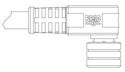403001A10M100 B-H NC 3P FP 10M 90D CPLR #24 PVC 78678834430