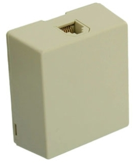 4625A-26I LEV TYPE 625A2 SURFACE MOUNT JACK IVORY 6P6C