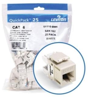 61110-BT6 LEVITON JACK CAT6 LTALM BULK 25 07847739820