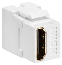 40834-W LEV HDMI FEEDTHRU CONN WHITE