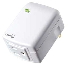 DZPA1-2BW LEVITON DS Z-WAVE PLG-IN OUTLET