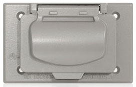 WM1HF-GY LEVITON HORIZ WEATHER PROOF COVER