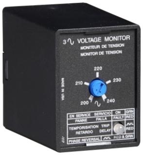 PLM9405 SSAC 3 PHASE LINE MONITOR 480VAC, SPDT, 8-PIN