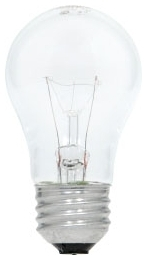 40A15/CL/DL/APPL/2/12/BL120V 10061 SYLVANIA INCANDESCENT 40W A15 CLEAR DOUBLE LIFE APPLIANCE LAMP MEDIUM BASE 120 VOLT