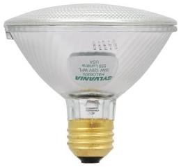 39PAR30/HAL/WFL50-120V SYLVANIA TUNGSTEN HALOGEN PAR30 REFLECTOR LAMP 39WATT 120VOLT MEDIUM BASE WIDEFLOOD50 BEAM 04613516119 16119