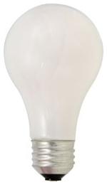 53A/HAL/SSW/2-120V SYLVANIA TUNGSTEN HALOGEN A19 LAMP 53 WATT 120 VOLT SUPER SOFT WHITE FINISH 04613552554 52554 24/case
