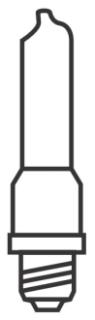 150Q/MC-120V SYL 150W E11 FROSTED 58736 (ETH) Qtz Minican Lamp