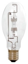 M400/U/ED28 SYLVANIA 400W METALARC COMPACT QUARTZ METAL HALIDE LAMP, REDUCED OUTER JACKET, E39 BASE, ED28 BULB, ENCLOSED FIXTURE RATED, UNIVERSAL BURN, CLEAR, 4000K 04613564034