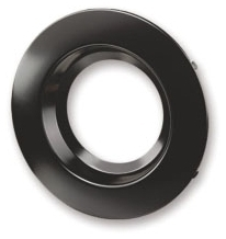 RT4/TRIM/BLK 70696 SYLVANIA TRIM RING FOR RT4 DOWNLIGHT RECESSED KIT, BLACK TRIM <(>&<)> BLACK REFLECTOR