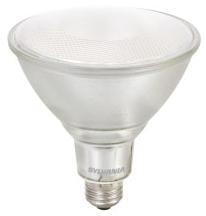 LED14PAR38/DIM/830/FL40/GL1/W 74034 SYLVANIA LED PAR38, 14W, DIMMABLE, 82CRI, 1050 LUMEN, 3000K, 25000 LIFE