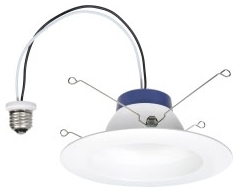 LED/RT/5/6/625/827 74404 SYLVANIA 625LM 2700K LED RECESSED DOWNLIGHT KIT REPLACING UP TO 60W INCANDESCENT SUITABLE FOR 5