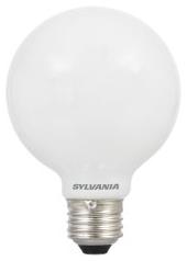 LED4.5G25/DIM/F/827/GL/RP 75317 SYLVANIA LED G25, 4.5W, DIMMABLE, 80CRI, 420 LUMEN, 2700K, 15000 LIFE
