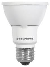 LED8PAR20/HD/DIM/927/FL40 78366 SYLVANIA LED PAR 20, 8W, DIMMABLE, 91CRI, 500 LUMEN, 2700K, 25000 LIFE