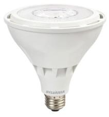 LED26PAR38/HO/830/SP15/W/UNV 79364 SYLVANIA LED PAR38, 26W, DIMMABLE, 81CRI, 2400 LUMEN, 3000K, 25000 LIFE