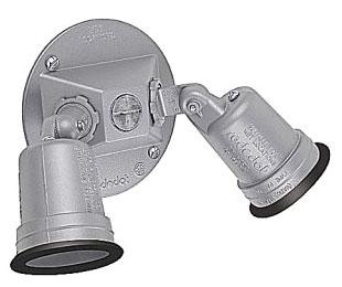 S513E-RL T-B 2 LAMPHOLDERS ROUND COVER SILVER